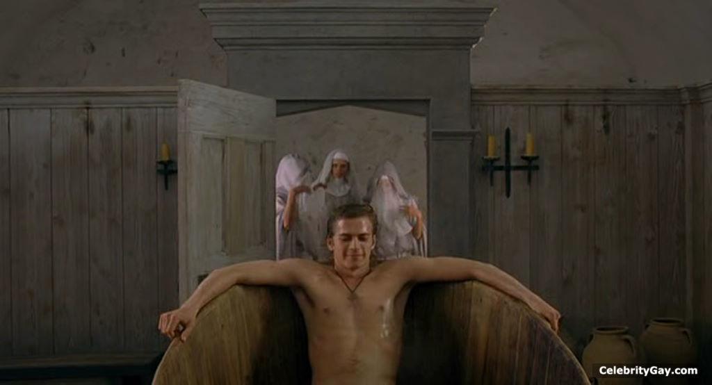 Hayden christensen nude in shower