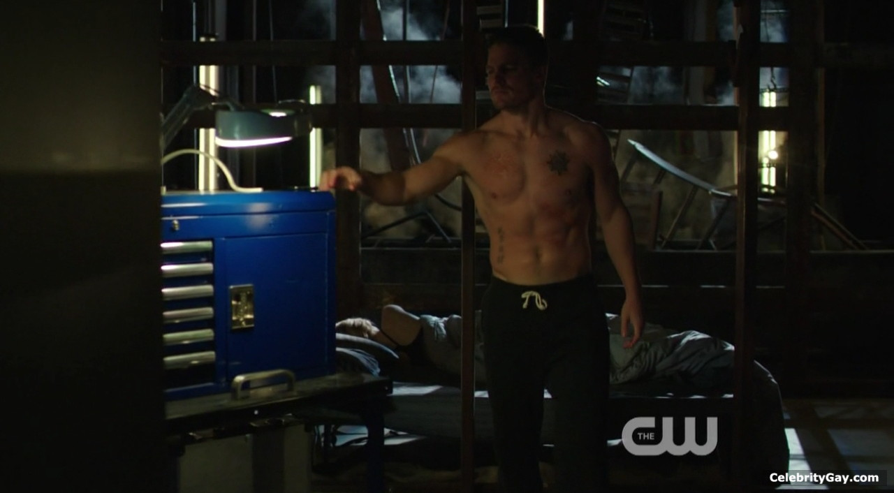 Stephen Amell Strips Down in Fully Naked Poolside Snap